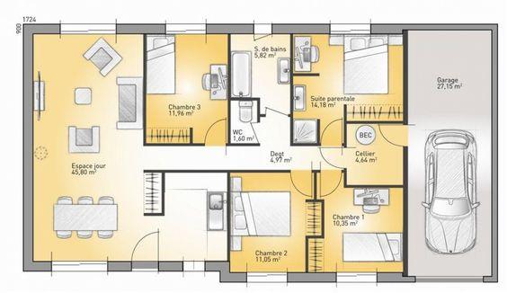 Maison à lu0027architecture bioclimatique Architecture, Construction - plan maison france confort