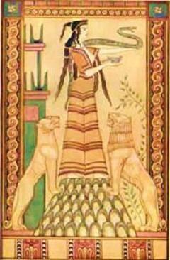 La Sacerdotessa dei Leoni... Artemide o Cibele Feles: