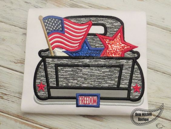 4th of july machine applique designs