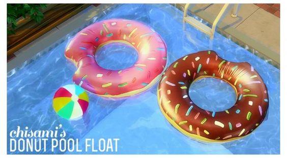 Donut pool float at Chisami via Sims 4 Updates