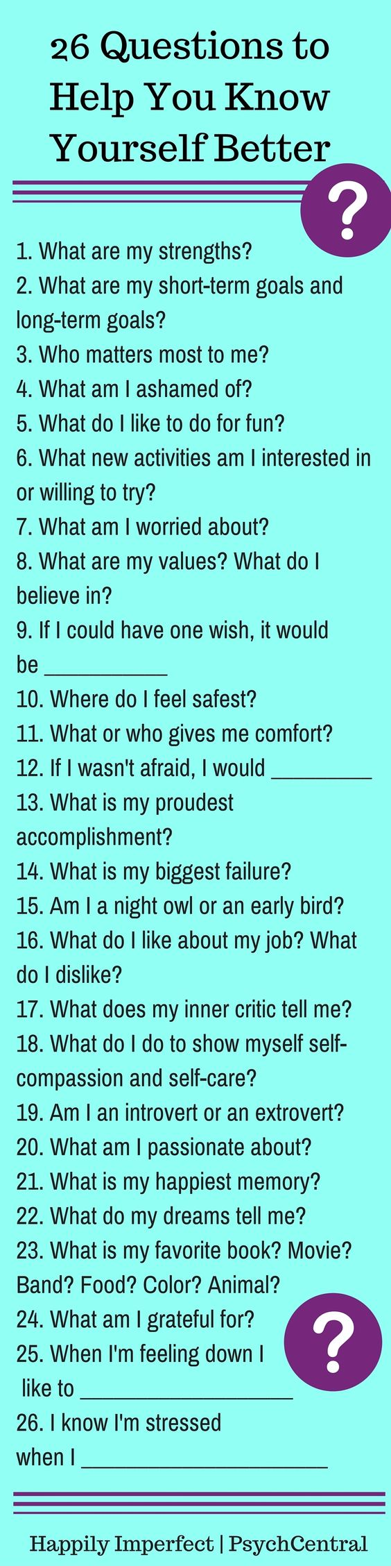 questions to help you know yourself better your life 26 questions to help you know yourself better