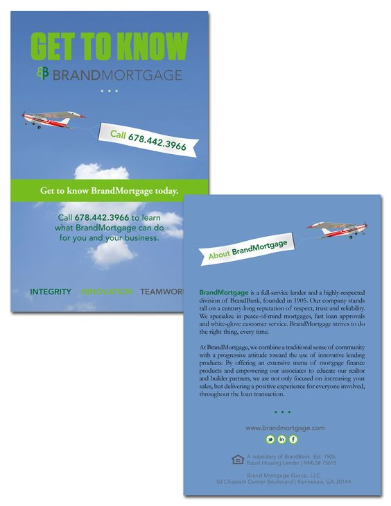 BrandMortgage; drip campaign; postcard design; graphic design - sample marketing campaign