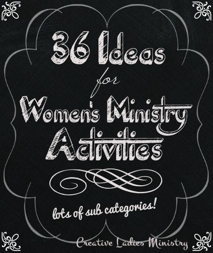 36 Church Ladies  Group Activities for Womens Ministry:  from Creative Ladies Ministry