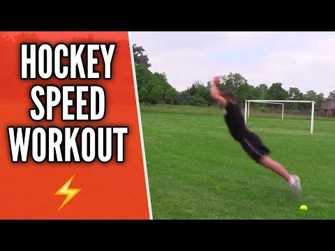 Hockey Speed Workout Skate Faster Youtube Speed Workout Hockey Training Hockey Workouts