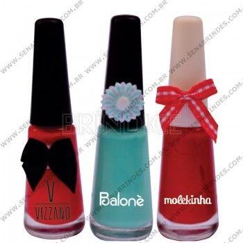 Esmalte personalizado.  www.brindice.com.br/brindes/esmalte