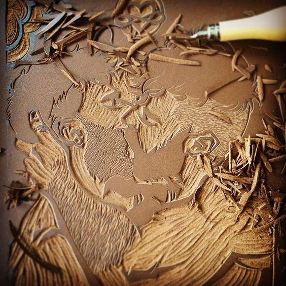 #art #Arte #artbyfab #gaypic #gay #gayart #instagay #gaystagram #gaylove #gaykiss #frenchkiss #gaybeard #gaybeard #gaylovers #gayilustracion #gayillustration #wip #linocut #linocutting #linoprint #linoprinting #linoleum #linogravure #lino #gravure #scruff #scruffy  by artbyfab
