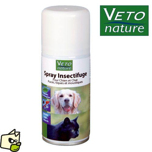 AEROSOL Véto nature BEAPHAR insectifuge pour chien chat