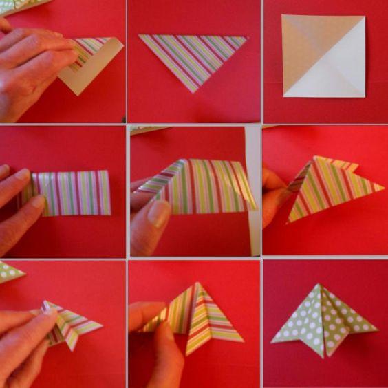 tuto carte de voeux origami
