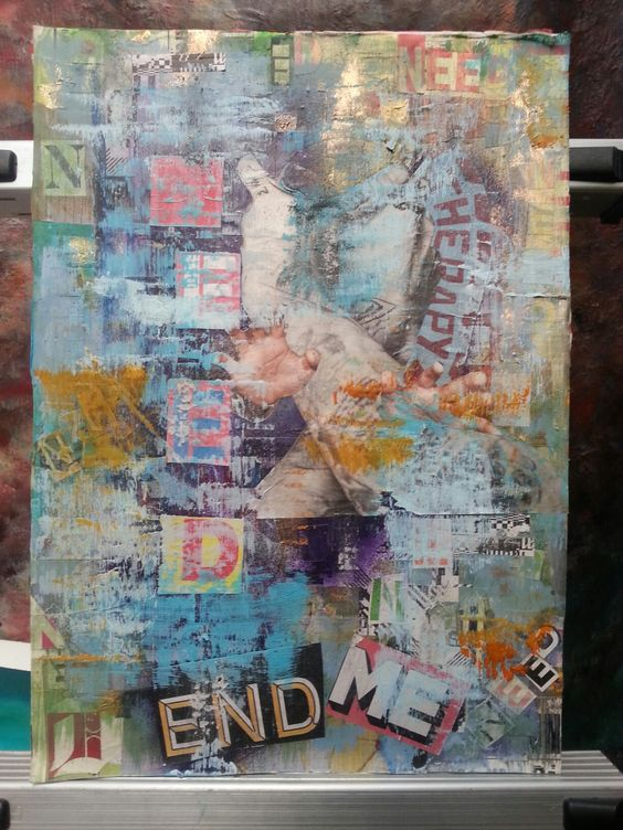 handmade mixed media collage