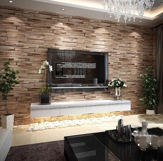 moderne wohnzimmer tapeten wood stone kaufen billigwood stone ...