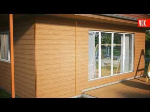 Kerrafront Fassadenpaneel Fs 201 In Holzoptik Aus Kunststoff Kunststoffpaneele Fassadenverkleidung Fassade