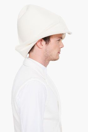 COMME DES GARÇONS HOMME PLUS Cream Handmade Wool Hat