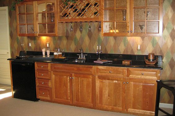 Lowe S Cabinet Ideas Bar Basement: 30 Magnificent Basement Bar Ideas - SloDive