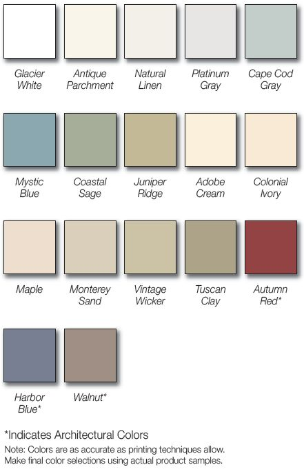 Vinyl Siding Colors Nu Look Home Design Siding Colors