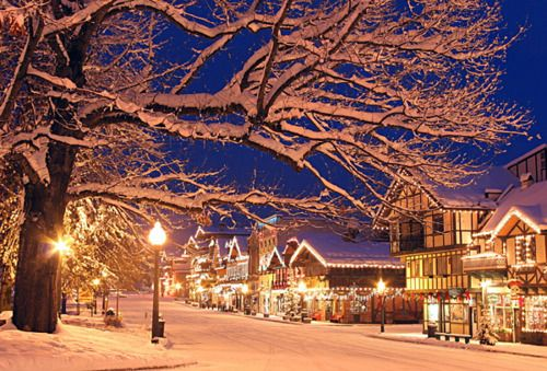 Leavenworth, Washington at Christmas looks like a story book.