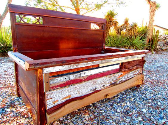 Salvaged Planter Bed or storage box by JKsART on Etsy, $295.00