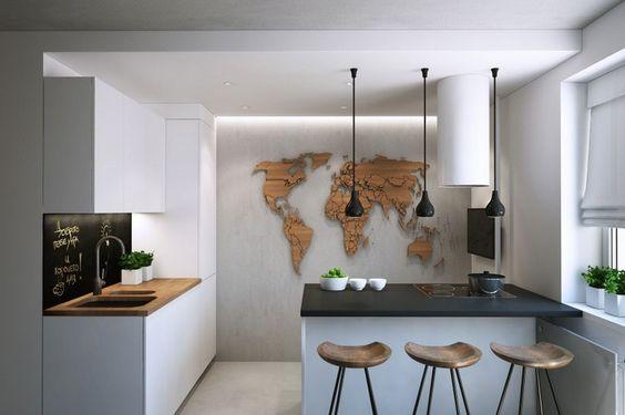 Marvelous indirekte Deckenbeleuchtung mit kaltem Licht in der K che Lampen Pinterest Small spaces Kitchens and Spaces