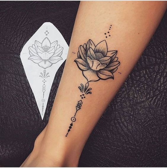 Gorgeous Lotus Flower Leg Tattoos Tattoos Foot Tattoos Unalome Tattoo