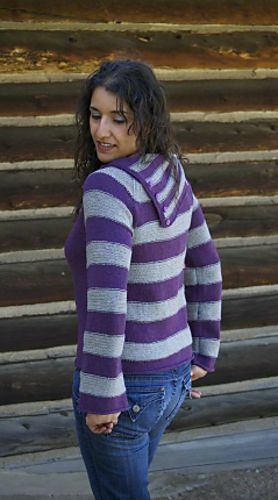 """Wetterhorn Sweater by Marlaina """"Marly"""" Bird is knit with two colors of our 100% Yak Sport Weight Yarn!"""