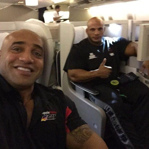 Big Ramy and Victor Martinez On the way to Madrid Spain for the 2014 Arnold Classic! http://www.imuscletalk.com