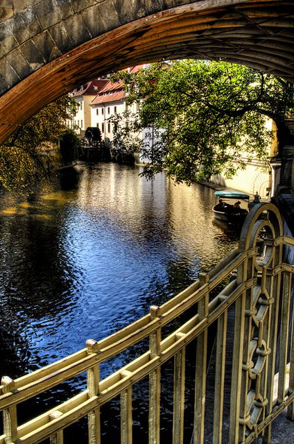 Prague....not that I want to live on the bridge (or under) but that manor over there is what I've got my eyes on.: