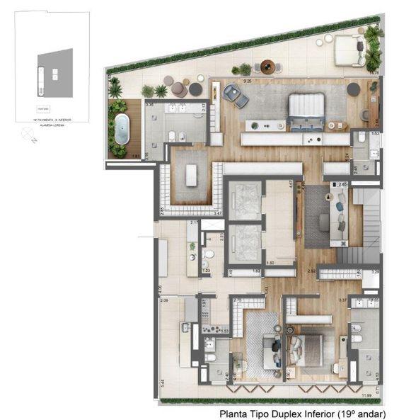 Facces Jardins By Helbor Em 2020 Projeto Arquitetura Projeto De