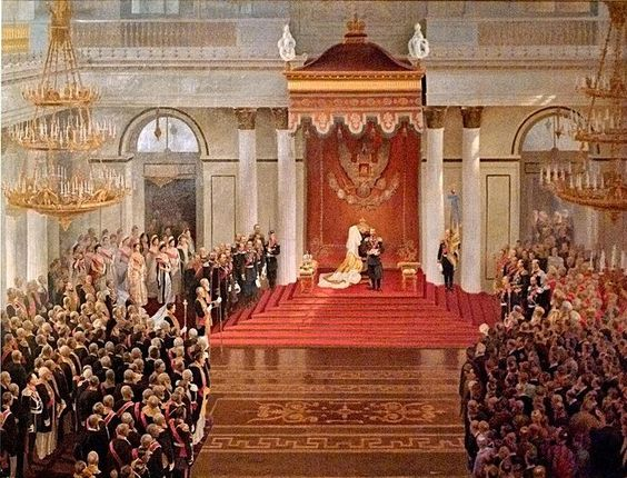"Tsar Nicholas II opens the first State Duma from the Winter Palace on 23 April 1906 where he issued the 'Fundamental Laws', that gave him the title of ""supreme autocrat""."