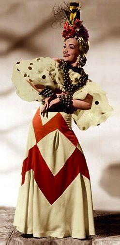 Carmen Miranda in 'That Night In Rio' (1941). Costume Designer: Travis Banton…