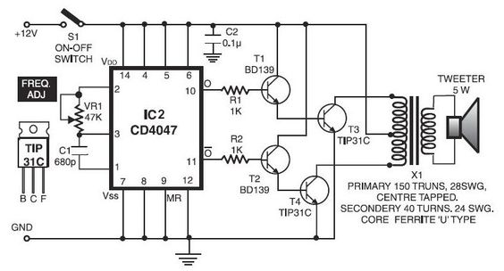 Electronic Pest Repellent Circuit Schematic Electronic