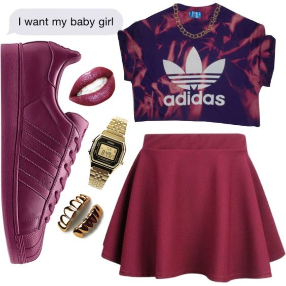 Untitled #188 by dianablvck on Polyvore featuring moda, adidas and Casio