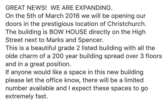 Amazing news guys!!! We have decided to expand! We will now have a village in Southampton and Christchurch! For more details email us, or message us on Facebook!! ❤️