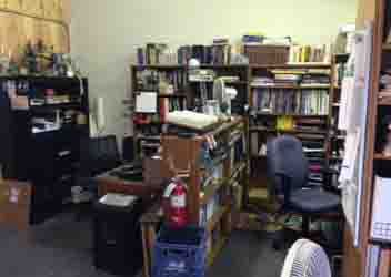Accounting desk, and a partial view of Meghan's desk. Chaosium office.