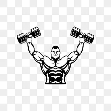 Sport Gym Logo Bodybuilder With Big Muscles Posing Isolated Vector Silhouette Front View Power Clipart Logo Icons Sport Icons Png And Vector With Transparent In 2021 Gym Icon Gym Logo Sport Icon