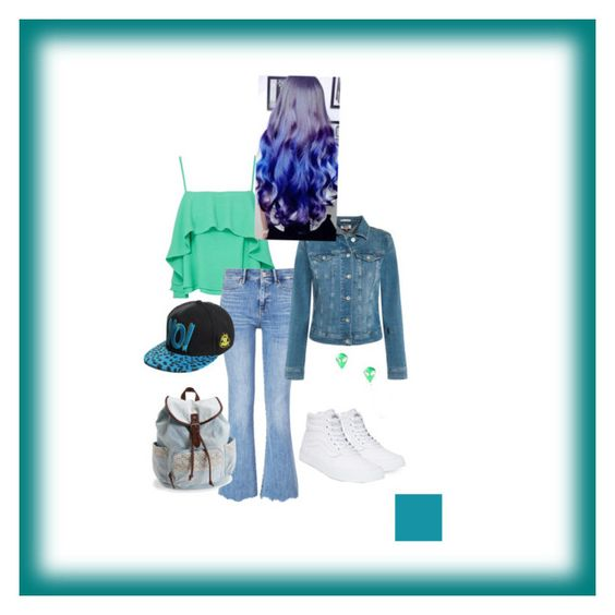 """""""Shades of blue and green"""" by padfoooot on Polyvore featuring Apiece Apart, MiH, Vans, Tommy Hilfiger, Aéropostale, Blue, GREEN and jeans"""