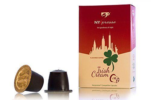 Nyxpresso Irish Cream Nespresso Compatible Capsules 60 Pods Fine Fresh Ground Coffee Blend Ecofriendly Recycla Irish Cream Blended Coffee Fresh Ground Coffee