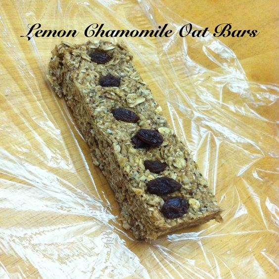 Lemon Chamomile Oat Bars Vegan no bake