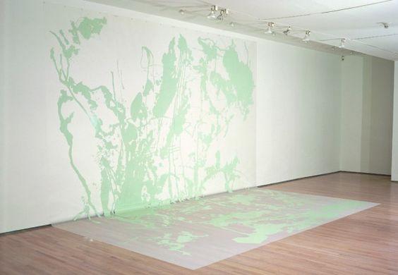 Ingrid Calame sspspss…UM biddle BOP, 1997; enamel paint on trace Mylar; 7.5 x 6 m (24 x 20 ft)
