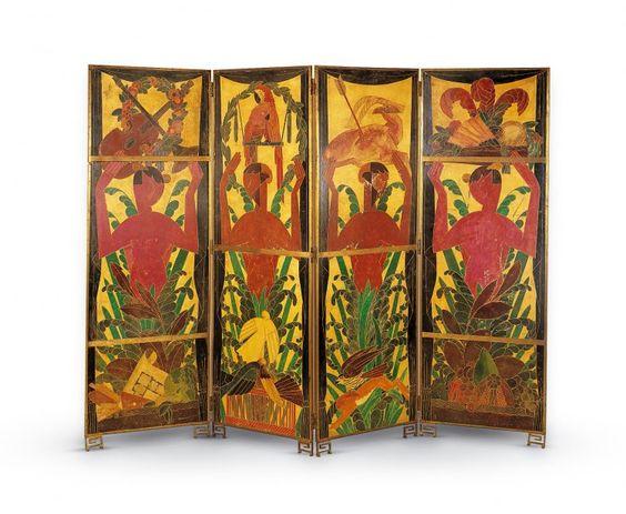 paravent les faunes andr mare 1887 1932 peintre compagnie des arts fran ais d corateur. Black Bedroom Furniture Sets. Home Design Ideas