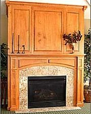 you could hide the tv behind the paneling over the mantel