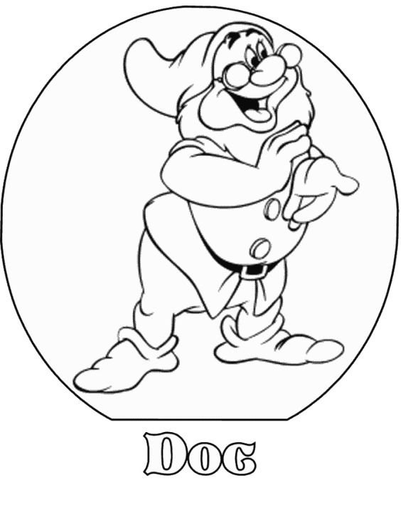 Gallery For gt Dopey From Snow White Coloring Page