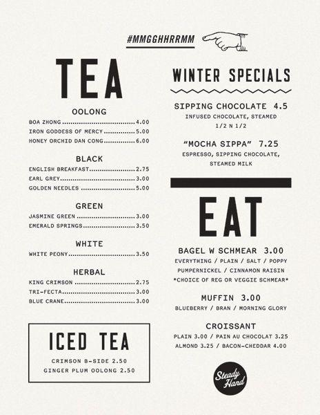 Best  Food Menu Ideas On   Menu Design Restaurant