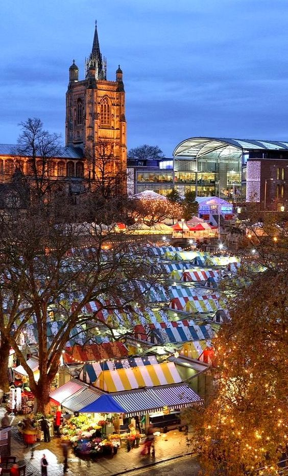 Christmas Markets ~  Norwich, England