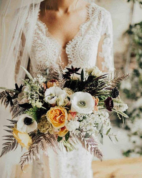 Pretty 52 Gorgeous Fall Wedding Bouquets -  #Bouquets #Fall #gorgeous #Wedding