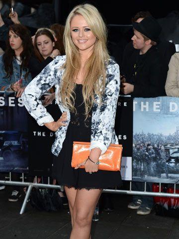 Emily Atack at The Dark Knight Rises premiere