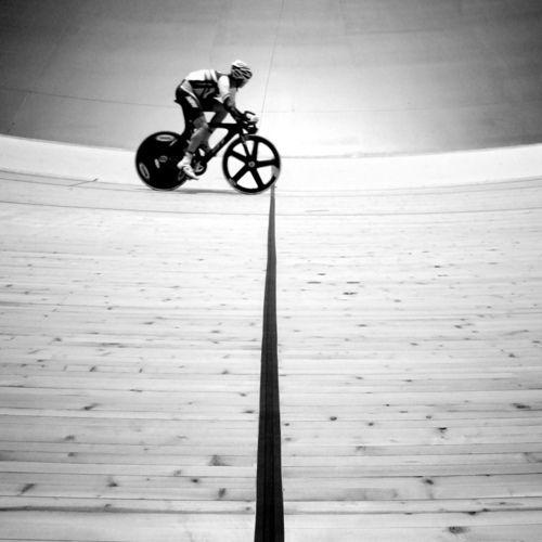 brilliant shot of the track & bike...