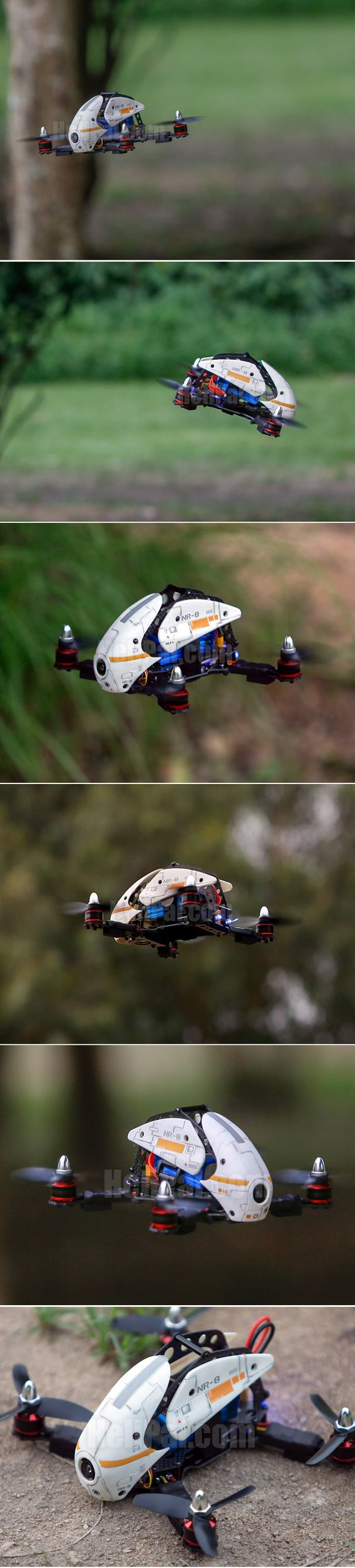 The new Storm Racing Drone from Helipal - built for speed with four rotors.
