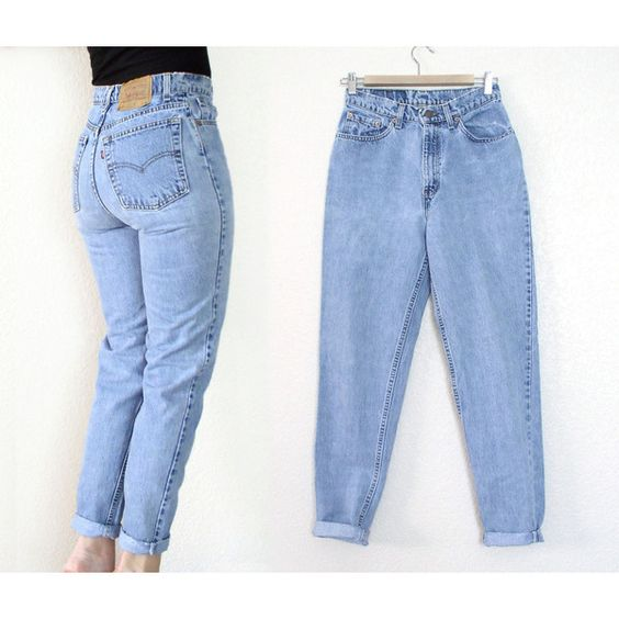 Vintage 80s 90s High Waist Levi's 512 Tapered Leg Jeans - Women's... (€34) ❤ liked on Polyvore featuring jeans, pants, high waisted boyfriend jeans, slim fit jeans, boyfriend fit jeans, 80s fashion e mens jeans