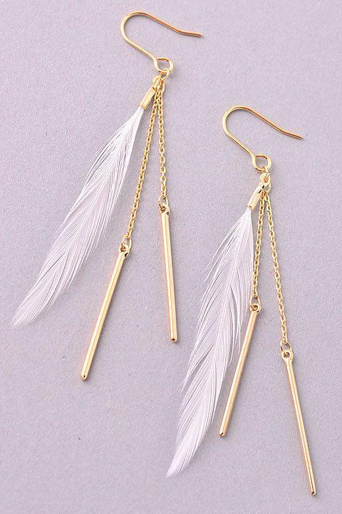 Lucky Feather Earrings: