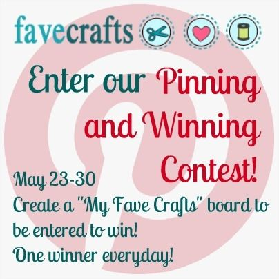 New Contest with @FaveCrafts! A prize every day!