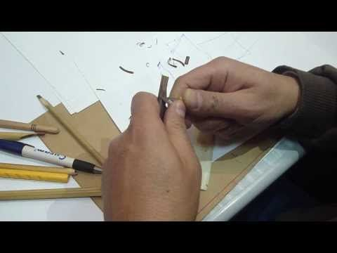 الأستاذ عبده الجمال يشرح كيفية بري قلم الخط العربي وقطه وتهيئته ليكون جاهزا للكتابة Youtube Bamboo Pen